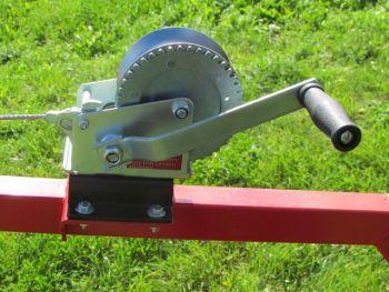 Manual winch kit for ATV log hauler