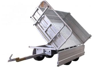 Tipping Trailer - 1500 kg capacity with a 3-way tilting option