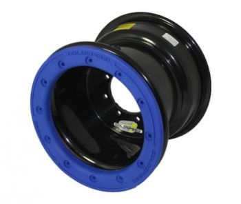 GS: 10X8 4/110/115 3+5 B BEAD LOCK BL - BLUE PC RING