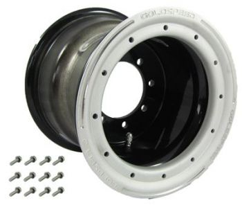GS: 9X8 4/110/115 3+5 B BEAD LOCK BLACK - SAND-BL RING