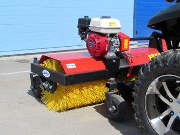 ATV rotary broom with 6,5 HP Honda engine