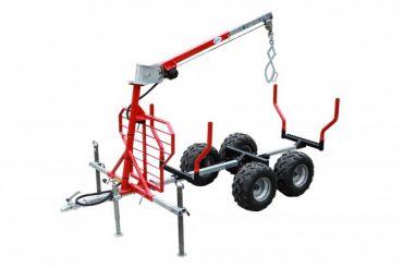 ATV timber trailer / Log trailer / Lumber trailer + crane + winch