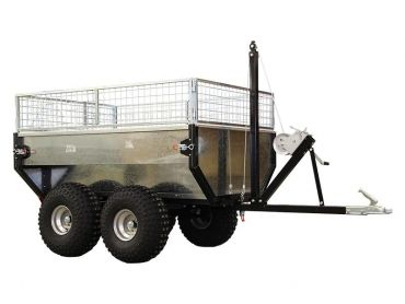 Tipping trailer with 1000 kg capacity