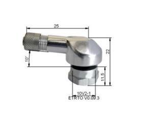 Alu tyre valves Ø8,5mm Silver