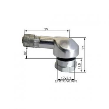 Alu tyre valves  Ø11,5mm Silver