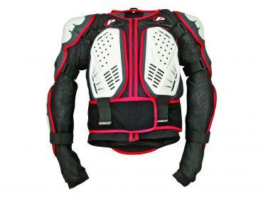 Polisport white/black/red Integral body armor