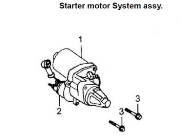 ATV120 starter motor