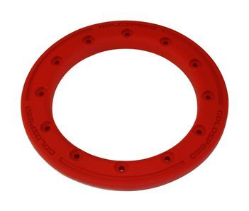 GS:BEAD-LOCK RING 8-INCH RED POLYMER CARBON + BOLTS